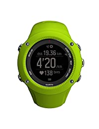 SUUNTO 颂拓 芬兰品牌 拓野3R 石英男女适用手表 GPS跑步柠檬黑 SS021260000(GPS 精确度时、速度、步调、距离和 GPS 高度、路线导航和回溯、从手腕测量步频、查看来电、消息推送通知、三维地图、制作 Move 创建 Suunto Movie 影片)
