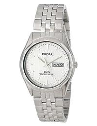 Pulsar 男式 PJ6029 连衣裙银色手表
