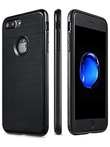 iPhone 7 Plus 手机壳,【抗冲击双层】【无刮痕背面】 黑色 S1060