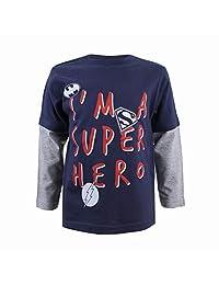 DC Comics 男孩款超级英雄 T 恤
