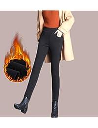 冬款加绒加厚保暖小脚裤打底裤外穿高腰大码胖mm黑色紧身铅笔长裤子LKP820