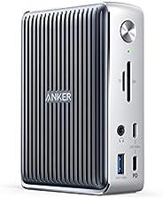 Anker 扩展坞,PowerExpand Elite 13 合 1 Thunderbolt 3 扩展坞,适用于 USB-C笔记本电脑,85W 充电,手机 18W 充电,4K HDMI,1Gbps 以太网,音频,USB-