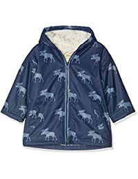 Hatley 男孩防水夹克雨衣,蓝色(夏尔巴内衬驼毛剪影 400),3 岁(尺码:3)