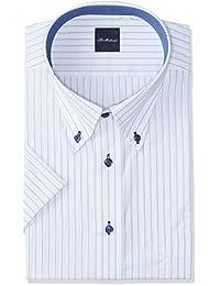 [弯曲日本]设计有领衬衫 半袖 吸水速干易干 形态稳定加工 DHSM70
