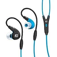 MEE-audio M7P-BL入耳式运动耳机 强劲低音 记忆耳挂 线控麦克风 纳米防水 蓝色