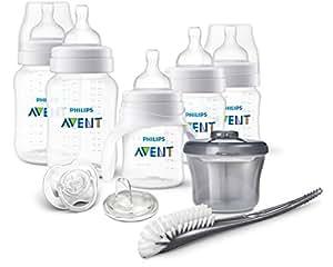 Philips飞利浦AVENT防疝气新生婴儿奶瓶套装 透明