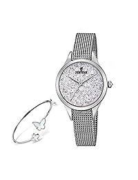 【跨境自营】Festina 法斯蒂納 石英女士手表+手镯套装 F20336/1(保税区直发,包邮包税)