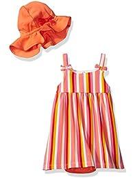 ISAAC mizrahi 婴儿女童2件套太阳裙,遮阳帽