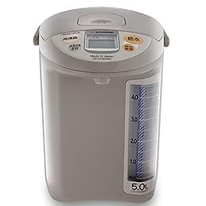 ZOJIRUSHI 象印日本原装进口5L 电热水瓶CD-LCQ50HC -TK 浅灰色/可可色(微电脑7小时省电定时)