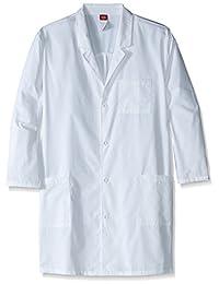 Dickies 男士 EDS 专业白 W/Certainty 101.60 cm 中性实验室大衣加长款