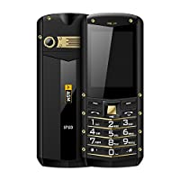 AGM手机 M2全网通三防手机老人机超长待机军工防水老年手机备用 (黑金色)