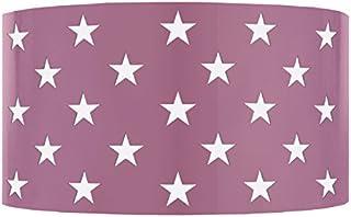 Tosel 31093 星形钢板激光切割 环氧油漆 E27,40 瓦,淡紫色,25 x 10,5 厘米
