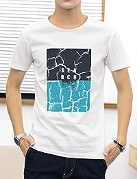 Goralon 夏季t恤2018新款韩版潮流体恤衣服帅气圆领修身打底衫男装短袖男T潮T印花T恤衫男上衣