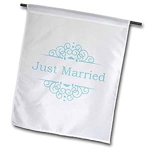 FL 151587inspirationzstore occasions–新婚配蓝色粉色精致旋涡时尚优雅 wedding marriage GIFTS for THE 新娘和新郎–旗帜 12 x 18 inch Garden Flag