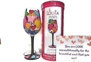 """Lolita""""Love is All Around Us""""手绘酒杯 - 送给妻子、配偶、女朋友、伴侣、朋友、妈妈的*佳情人节礼物"""