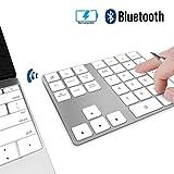 JOYEKY 34 键无线数字板铝制无线记帐数字键盘适用于 iMac、MacBook Air、MacBook Pro、MacBook 和 Mac Mini 34 keys Silver