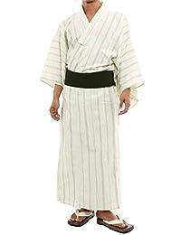 Improves 不易变形正宗 4件套 浴衣 宽松 木屐 腰带 和服 和服 *棉 男士