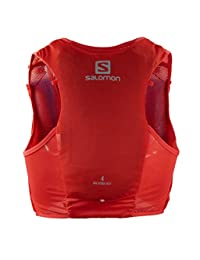 Salomon 萨洛蒙 水化包 跑步背包 HYDRACTIVE VEST 4 男士 FIERY RED