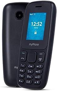 myPhone 3330 按鍵手機,無合同 1.77 英寸老年手機,帶手電筒,雙存儲卡,FM 收音機,MP3,長電池800mAh,藍牙,SD,手機,老人手機,大按鍵手機,黑色