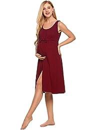Skylin 女士无袖孕妇哺乳睡衣 S-XXL