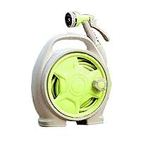 多功能水枪花洒可收缩水管高压洗车水枪 花园绿化园艺浇水 (绿色)