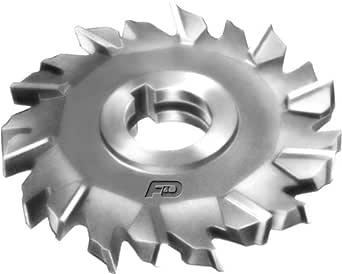 F&D Tool Company 11217-A7608 交错齿边铣刀,高速钢,直径 15.24 厘米,面宽 0.64 厘米,孔径 2.54 厘米