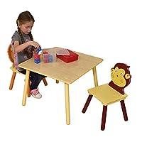 Liberty HOUSE 玩具丛林桌子和两个椅子套装,木, multi-colour