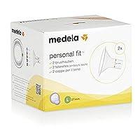 Medela 美德乐 吸奶器配件 吸乳护罩 乳头保护罩 喇叭罩 L号 27mm 2个装
