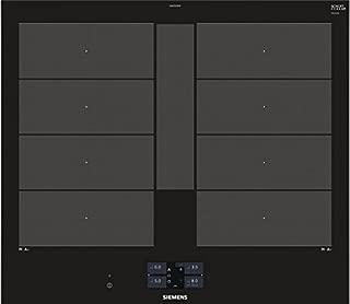 Siemens ex675jyw1e 集成區域感應愛好 黑色 爐灶 - 板(內置,區域感應爐灶,玻璃和陶瓷,黑色,3300 W,矩形)