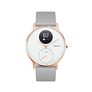 Nokia 诺基亚 Steel HR 智能手表 金属表面 智能心率追踪 50米防水 来电短信提醒 睡眠监测 白色 36mm