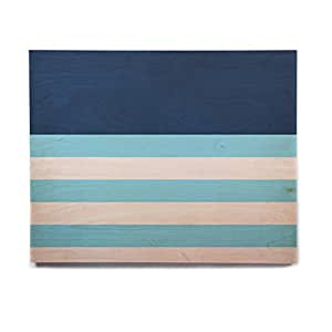 "KESS InHouse Trebam ""Nauticki Blue""水彩桦木墙壁艺术 11"" x 14"" TK1022AHW04"
