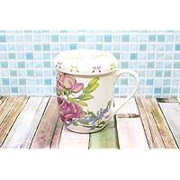 家庭咖啡馆系列 心形 带盖 马克杯 玫瑰花束