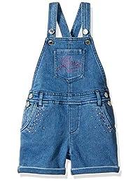 GUESS 女童 Little Blinged 牛仔工装裤