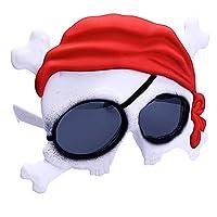 Sun-Staches 骷髅和交叉骨海盗阴影,即时装派克喜爱角色阴影 UV400