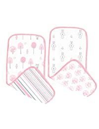SwaddleDesigns Muslin Burpies Pink Thicket One Size