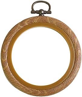 茉莉花 木质风格小木框 棕色 丸ミニ 外径φ75mm