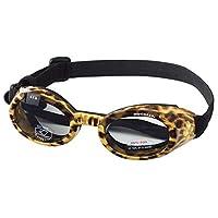 可爱狗 ILS 太阳镜防紫外线防护 EYEWEAR 所有尺寸和样式 Leopard Print Frame, Smoke Lens L