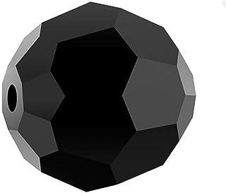 SWA2Rovski 圆形水晶珠耳环手镯脚链项链钥匙链吊坠首饰制作配件用品 乌黑色 8mm