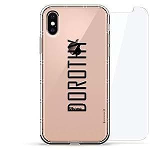 豪华设计师,3D 印花,时尚气袋垫,360 度玻璃保护套装手机壳 iPhoneLUX-IXAIR360-NMDOROTHY2 NAME: DOROTHY, MODERN FONT STYLE 透明