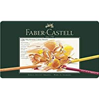 Faber-Castell 輝柏嘉 110011 - POLYCHROMOS 藝術家級油性彩色鉛筆,金屬筆盒,120支