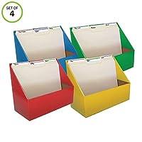 Evelots 文件夹/文件/杂志收纳架-教室/办公室/家庭/宿舍-坚固 多色