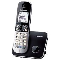 Panasonic 松下 KX-TG6811GB DECT 无线电话(4.6厘米(1.8 英寸)显卡显示屏)黑色