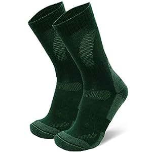 danish endurance 美利奴羊毛徒步袜 crew 适用于 TREKKING ,性能 & 户外,男式和女式 (3或1双装)