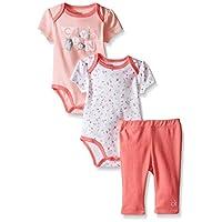 Calvin Klein 卡尔文·克莱恩 女童 印花连体衣和长裤套装