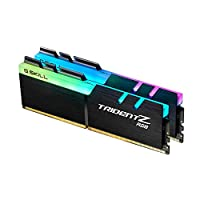 G.SKILL F4-3600C17D-32GTZR 32 GB (16 GB x 2) Trident Z RGB Series DDR4 3600 MHz Dual Channel Memory Kit - Black with full length RGB LED light bar