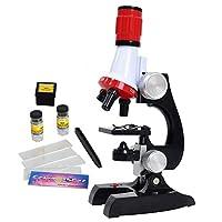 Little World 儿童科学套件初学者显微镜,带 LED 100X 400X 和 1200X 放大儿童教育玩具生日礼物