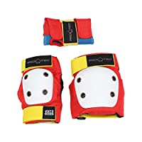 Pro-Tec Retro Street Gear 儿童滑板保护套装 Kids S 红色