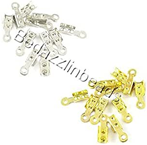 100 折叠绳卷曲珠端头饰带环首饰绳 镀金 0760194969384