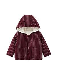 pureborn Baby 连帽棉被内衬夹克服装卡通熊猫刺绣冬季秋季棉质保暖外套