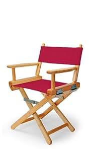 伸缩式休闲儿童导演椅,红色,带清漆边框